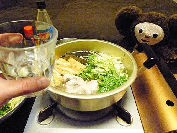 豚肉と水菜の鍋