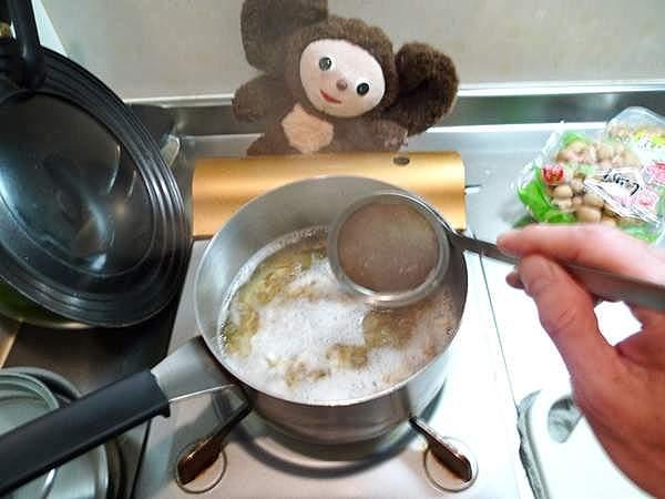 春菊と豆腐の吸物 作り方