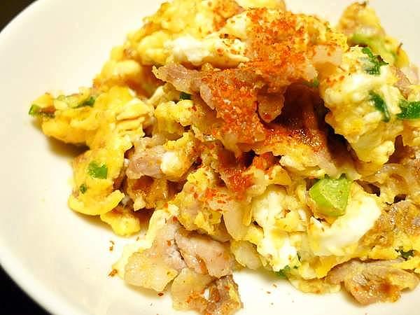 豚肉の卵炒め
