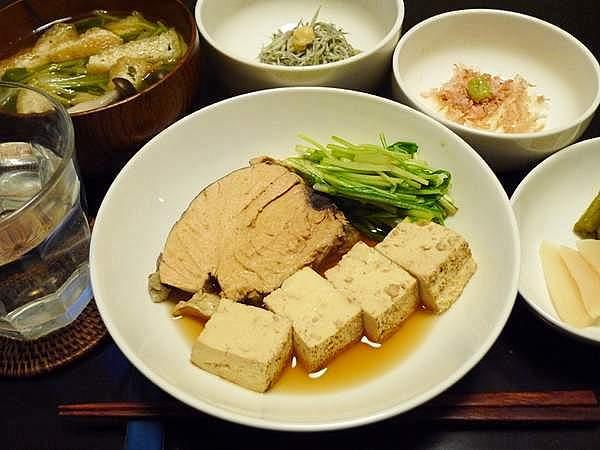 生節と豆腐の煮物