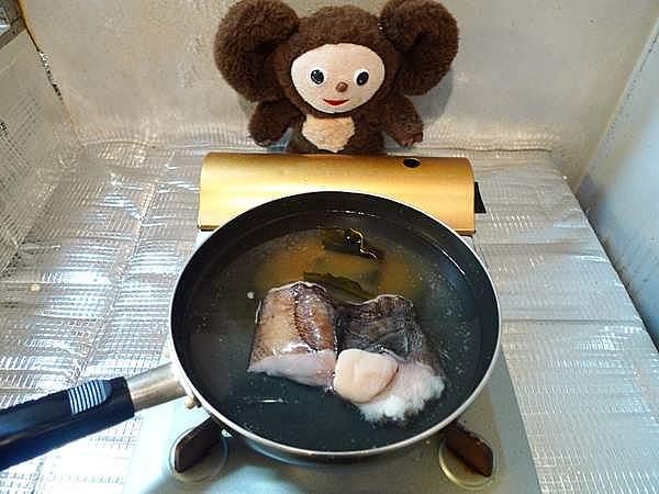 子持ちカレイ煮付け 作り方