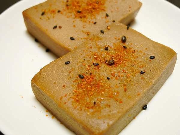 カレイの煮汁で炊いた高野豆腐