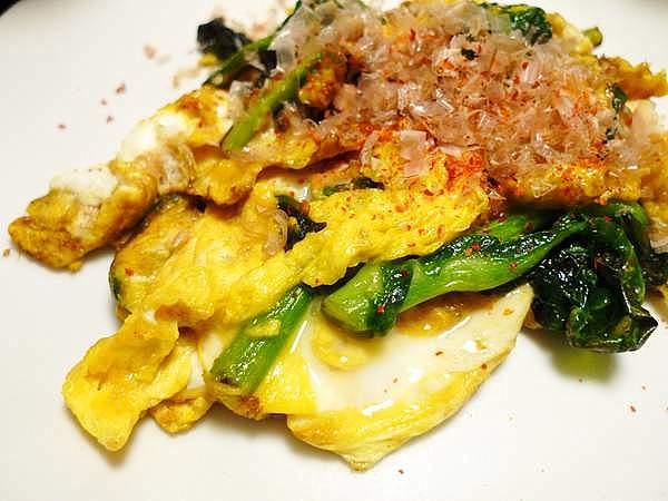 菜の花の卵炒め