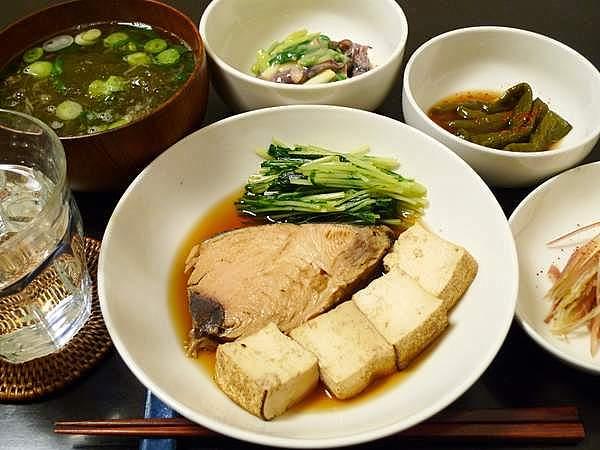 生節と豆腐の煮つけ