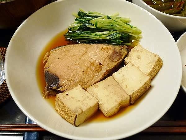 生節と豆腐の煮付け