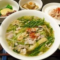 豚肉と水菜の吸い物