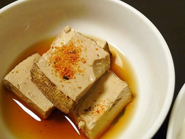 生節と煮た豆腐