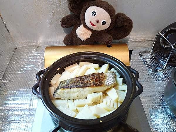 鯛とタケノコのご飯 作り方