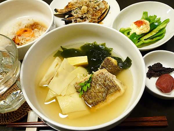 鯛の若竹汁