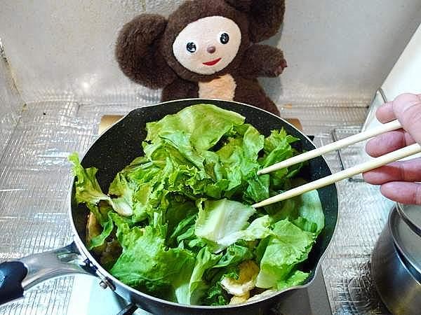 豚肉とレタスのオイスターソース炒め 作り方