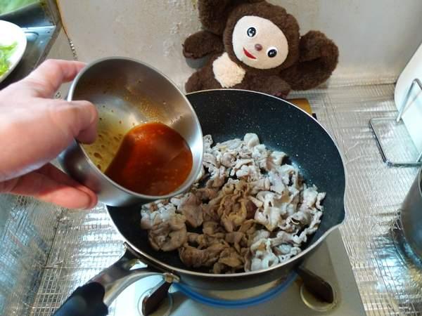豚とレタスのみそ炒め 作り方