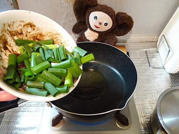 イカワタ甘辛みそ炒め 作り方