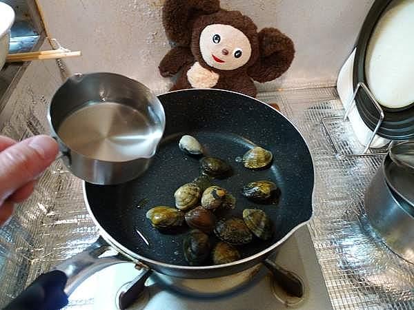 アサリのオイスターソース炒め 作り方