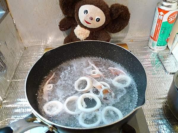 ゆでイカショウガ醤油 作り方