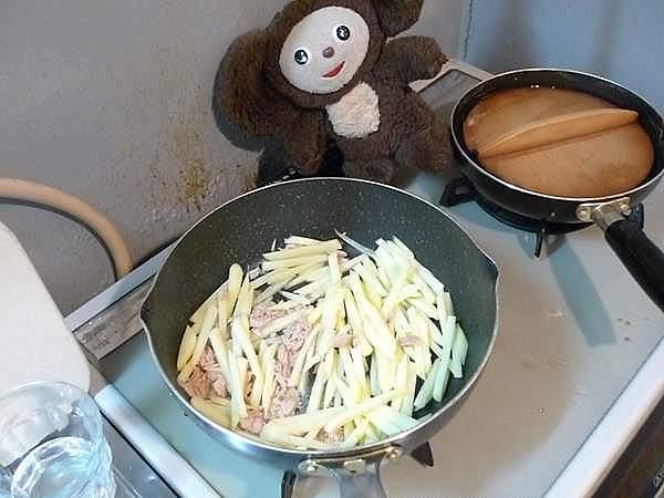 しゃっきりジャガイモのツナ炒め 作り方