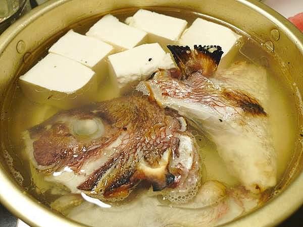 鯛の塩焼き鍋