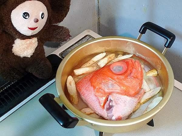 金目鯛とゴボウの煮付 作り方