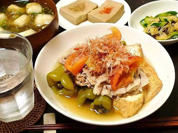 万願寺とうがらしと豚肉のサッパリ煮