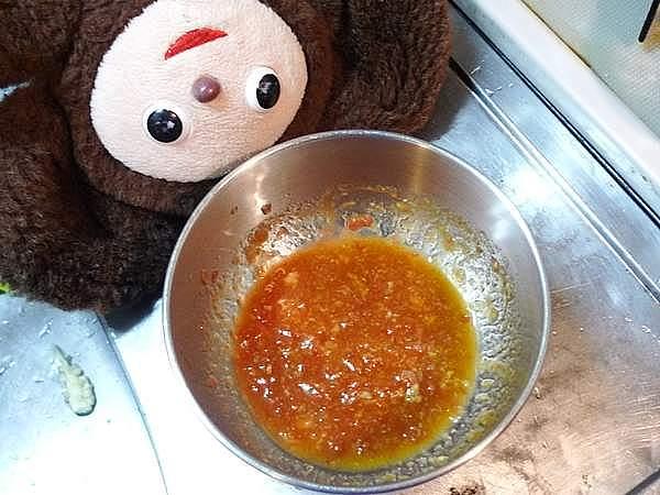 イカと万願寺の梅ダレ炒め 作り方