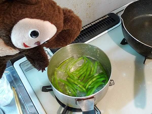 インゲンと厚揚げのそぼろあんかけ 作り方