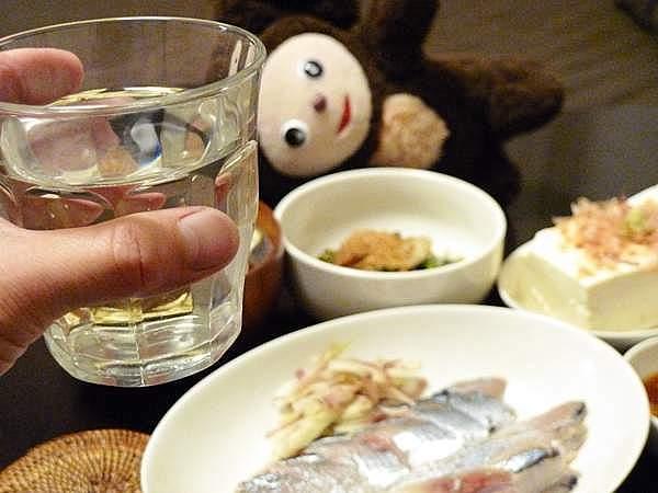 酒は、やはり酢じめには、日本酒、冷や酒