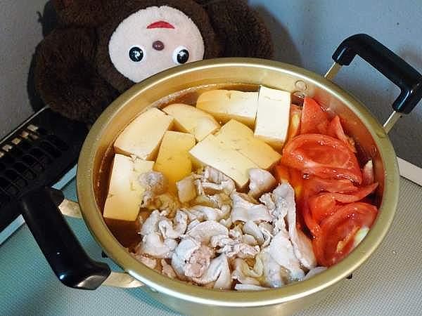 豚肉豆腐トマト入り 作り方