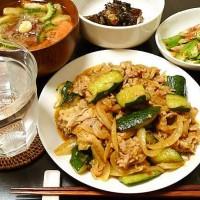 豚肉とキュウリのピリ辛炒め