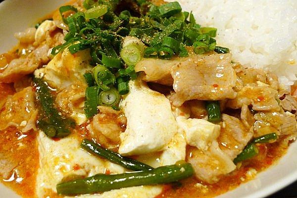 豚コマ肉の麻婆豆腐