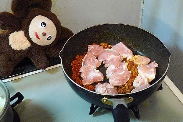 ナスと鶏の和風カレー