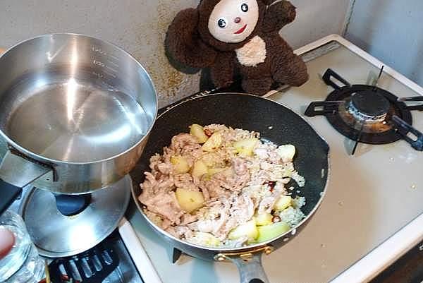 豚肉とジャガイモの和風ピラフ