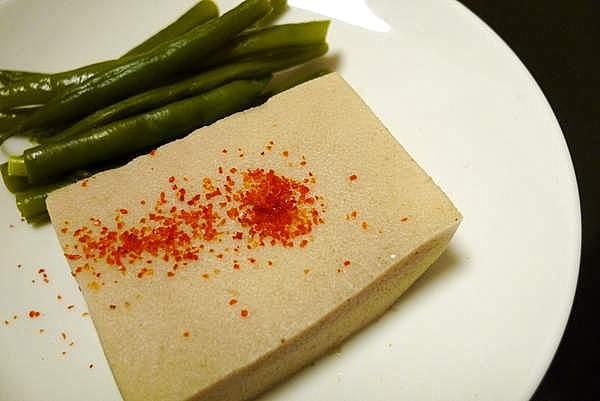 高野豆腐とインゲンの煮物