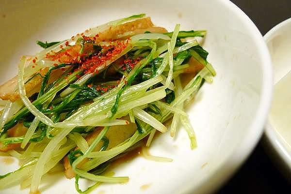 小松菜とさつま揚げのおひたし