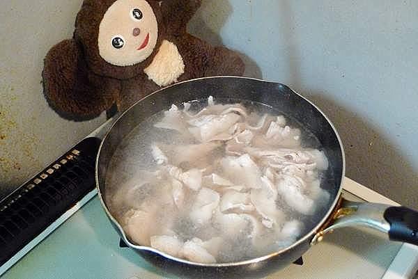 豚肉と小松菜の吸物