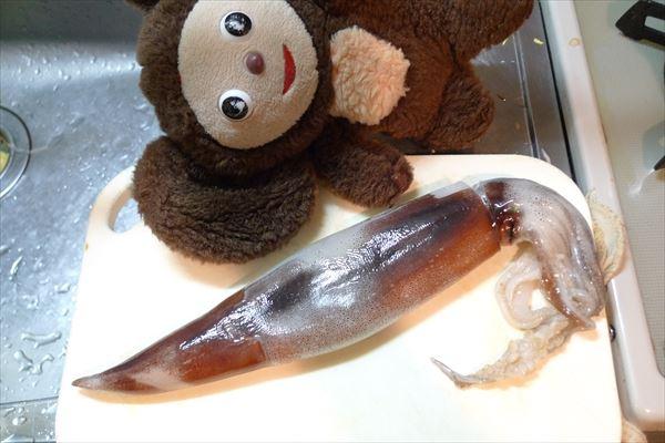 イカのワタ味噌炒め