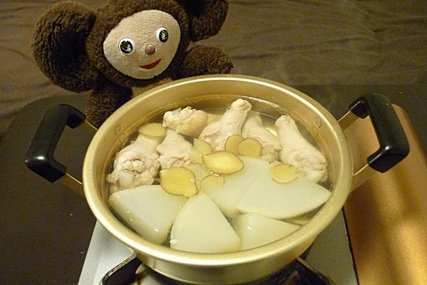 大根と鶏の白煮