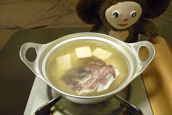 鯛あらの小鍋だて