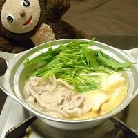 豚と水菜の白みそ鍋