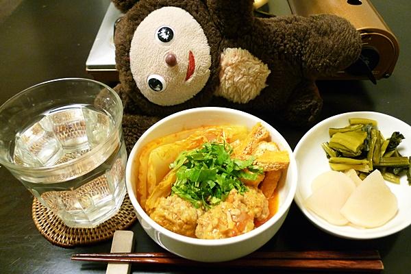 豚肉団子と白菜のトマト鍋