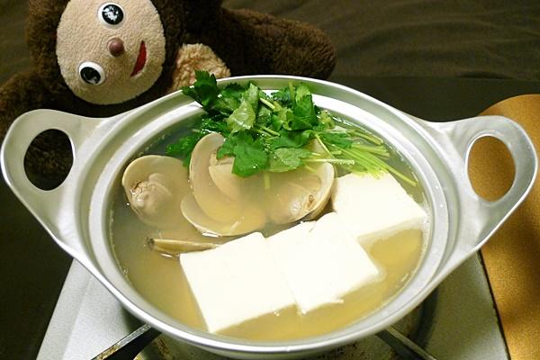 はまぐりの湯豆腐
