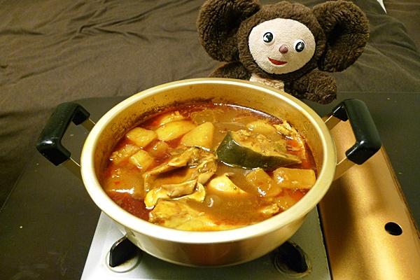 ブリ大根のカレー鍋