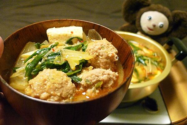 豚団子のスタミナ鍋