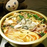 豚とニラ・カキのマーボー鍋