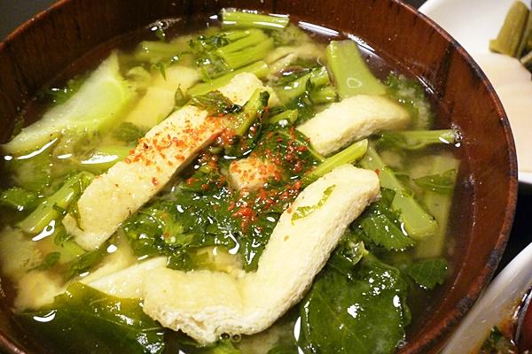大根菜と油あげのみそ汁
