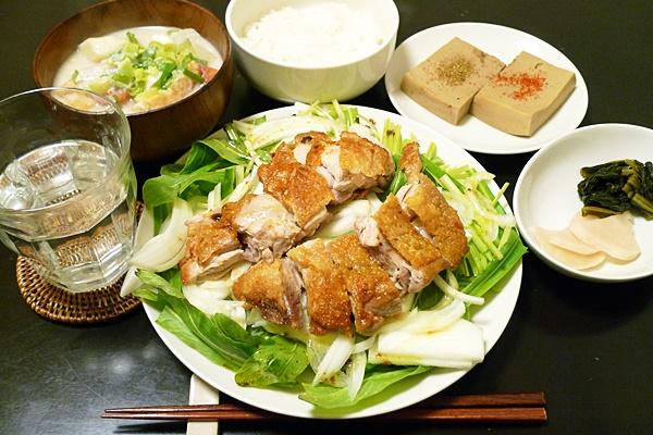 チキンソテー・オン・ザ・水菜