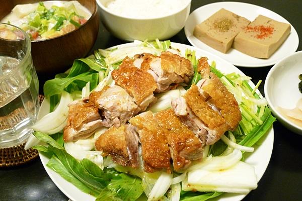 チキンソテー・オン・ザ・壬生菜