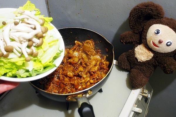 豚とレタスのピリ辛みそ炒め