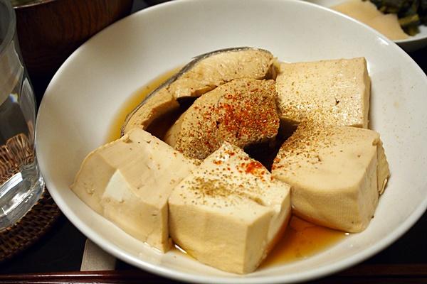 生ぶしと豆腐の煮物