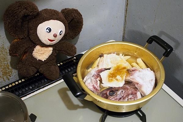桜鯛のあら炊き