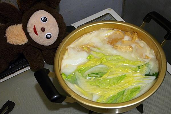 アサリと白菜の白みそ汁