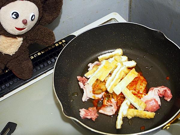 あさりの豚キムチ